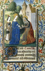 South Africa, National Library of South Africa, Capetown, the Visitation, 14th century Book of Hours