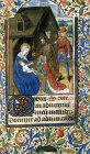 South Africa, National Library of South Africa, Capetown, Adoration of the Magi, 14th century manuscript from a Book of Hours