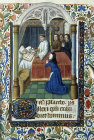 Last Sacrament, illuminated miniature from fourteenth century Book of Hours, South African Library, Capetown, South Africa