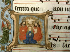 South Africa, National Library of South Africa, Capetown, Coronation of the Virgin, from a 14th century Book of Hours