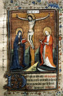 South Africa, National Library of South Africa, Capetown, Crucifixion, from a 14th century Book of Hours
