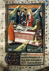 South Africa, National Library of South Africa, Capetown, the entombment, from a 14th century Book of Hours