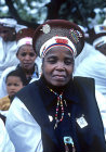 Annual Shembe pilgrimage procession to top of Nhlangakazi mountain, mecca of Nazareth Baptist Church, Natal, South Africa