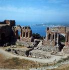 Italy,  Sicily, Taormina, 3rd century  BC - 2nd century AD Greco-Roman theatre
