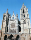 West front, Leon Cathedral, built from thirteenth to sixteenth centuries, Spain