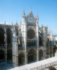 Leon Cathedral, south aspect, thirteenth century to fifteenth century, Leon, Spain
