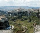 Cuenca, north east aspect of part of old city with Huecar Gorge below, Castilla-La Mancha, Spain