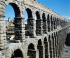 Spain, Segovia, 2nd century Roman aqueduct, north west aspect