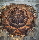 Cupola of tenth century Great Mosque above the Qibla, Cordoba, Spain