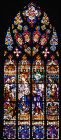 Nativity window, south nave triforium, twentieth century, Barcelona Cathedral, Spain
