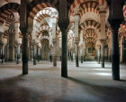 Interior of Great Mosque, eighth to tenth century, Cordoba, Spain