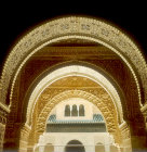 Entrance to Salon de Las Dos Hermanas, fourteenth century, Alhambra, Granada, Spain
