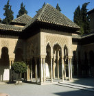 Spain, Granada, the Alhambra 14th century, east Pavilion of the Lion Court
