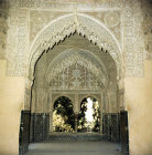 Spain, Granada, the Alhambra 14th century, entrance to a part of the interior of the Mirador de Daraxa