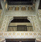 Spain, Granada, the Alhambra 14th century, Minstrels Gallery in the Sala de Las Camas