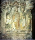 Jeremiah, Daniel, Isaiah and Moses, sculpted figures, twelfth century, by Master Mateo, Santiago de Compostela Cathedral, Spain