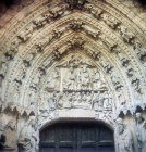 Leon Cathedral, tympanum on south door at west end, thirteenth century, Leon, Spain