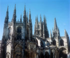 Burgos Cathedral, north east aspect, thirteenth century to sixteenth century, Burgos, Spain