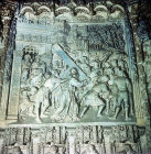 Christ carrying the cross, fourteenth or fifteenth century high relief, Burgos Cathedral, Burgos, Spain