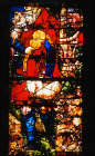 Detail of window in la Sacra Capilla del Salvador, sixteenth century, Leon Cathedral, Spain