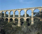 Roman aqueduct, second century, 95 feet high, Tarragona, Spain