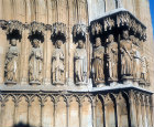 Apostles and Prophets on side of west portal, 1278, Tarragona Cathedral, Spain
