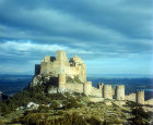 Loarre Castle, eleventh and twelfth centuries, important fortress in Muslim-Christian conflict, Huesca Province, Spain