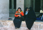 Syria, Aleppo, women in the courtyard of the Great Mosque