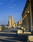 Syria, Palmyra, the colonnaded street and triumphal arch