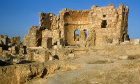 Syria, Rasafa, ruins of the baptistry