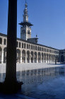Syria, Damascus, the Great mosque or  Ummayad Mosque and the  Jesus Minaret 8th century