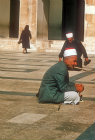 Syria, Damascus, old man praying in the Ommayad Mosque