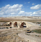 Syria 30 miles north west of Cyrrhus, Roman bridge with three arches spanning the river Sabun Suyu a tributary of the river Afrin
