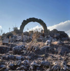 Syria, Cyrrhus, a ruined Roman arch