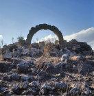 Syria, Cyrrhus, a ruined Roman arch