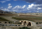 Syria, 30 miles north west of Cyrrhus, Roman bridge, three arches over the River Afrin