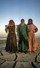 Village girls dressed in nylon, Hardaneh, Syria