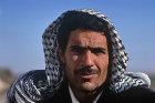 Syrian man wearing kheffiyeh