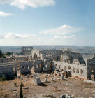 Syria, Qalaat Semaan, the monastery from the enclosure wall
