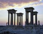 Syria, Palmyra, the Tetrapylon at sunrise