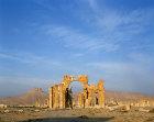 Syria, Palmyra triumphal arch and Arab castle