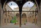 Aleppo, Syria,14th century Mamluk, Maristan Arghun al-Kamili (founded as asylum by Mamluk governor Arghun al-Kamili), central courtyard
