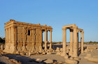 Temple of Baal-Shamin (first to second century AD), view from the west, Palmyra, Syria