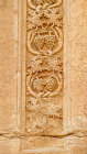 Detail of carving of grape vine on funerary temple (late second century AD) at north west end of colonnaded street, Palmyra, Syria