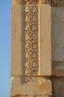 Detail of carving of leaves on funerary temple (late second century AD) at north west end of colonnaded street, Palmyra, Syria