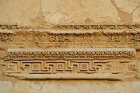 Detail of carving of Greek key pattern and bead and reel pattern on funerary temple (late second century AD) at north west end of colonnaded street, Palmyra, Syria