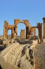 Monumental arch (circa AD 200) seen from the south east, Palmyra, Syria