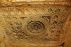 Temple of Bel (first to second century AD), interior of cella, detail of carved ceiling, Palmyra, Syria