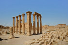 Temple of Bel (first to second century AD), north west corner of outer colonnade with cella behind, Palmyra, Syria