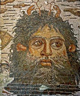 Oceanus, Greek and Roman god, personification of the sea, third century, Roman mosaic, Sousse Museum, Sousse, Tunsia